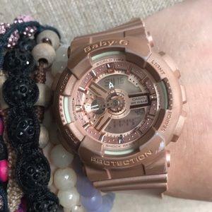 Light pink waterproof gshock watch